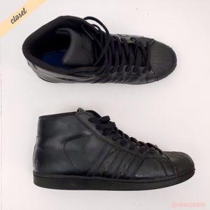 [Adidas] Men's Black Pro Model Shell Toe Sneakers